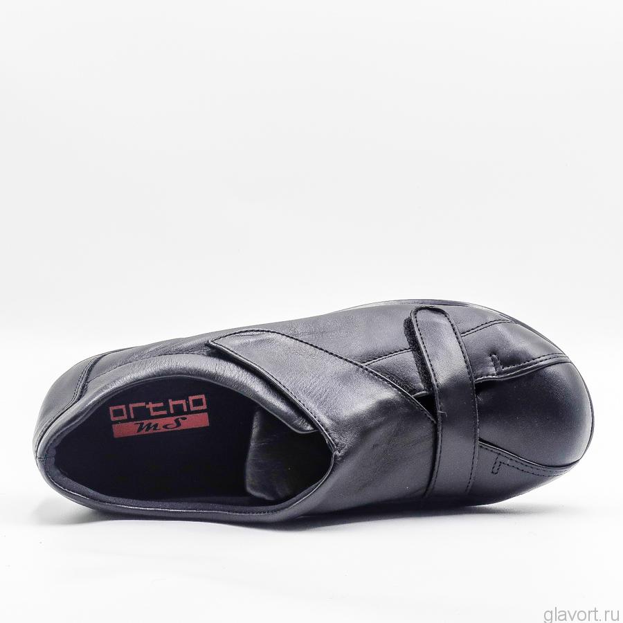 Полуботинки OrthoMS 5012  очень широкие и мягкие, черный 5012 фото