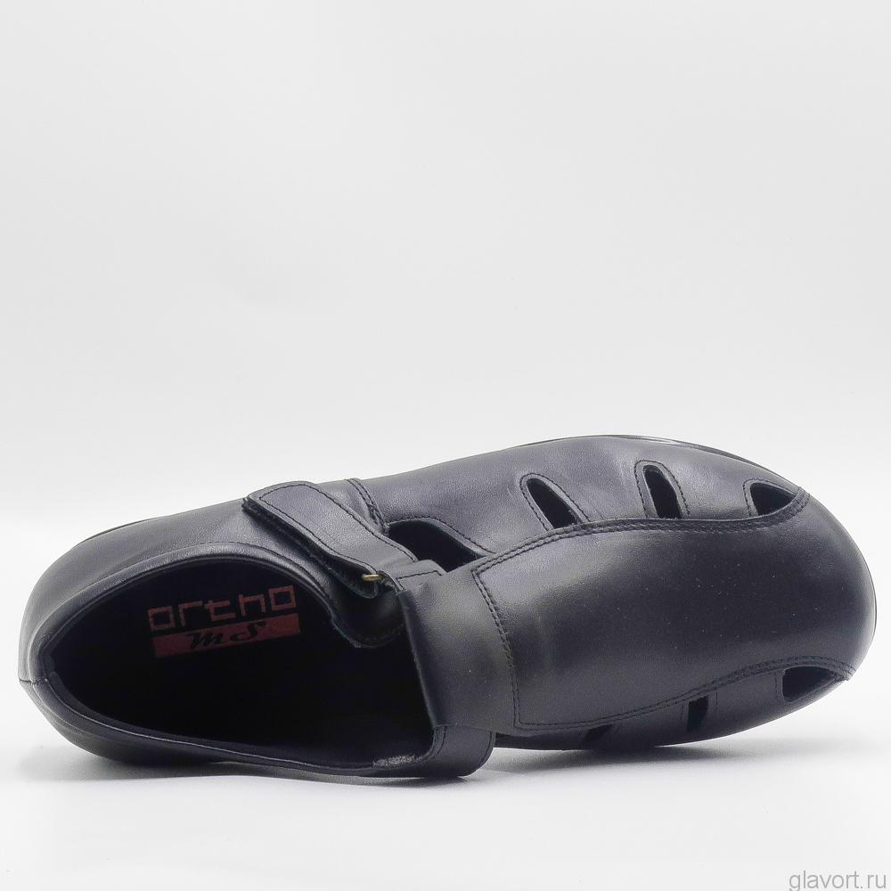 Туфли OrthoMS 5004 очень широкие и мягкие, черный 5004 фото