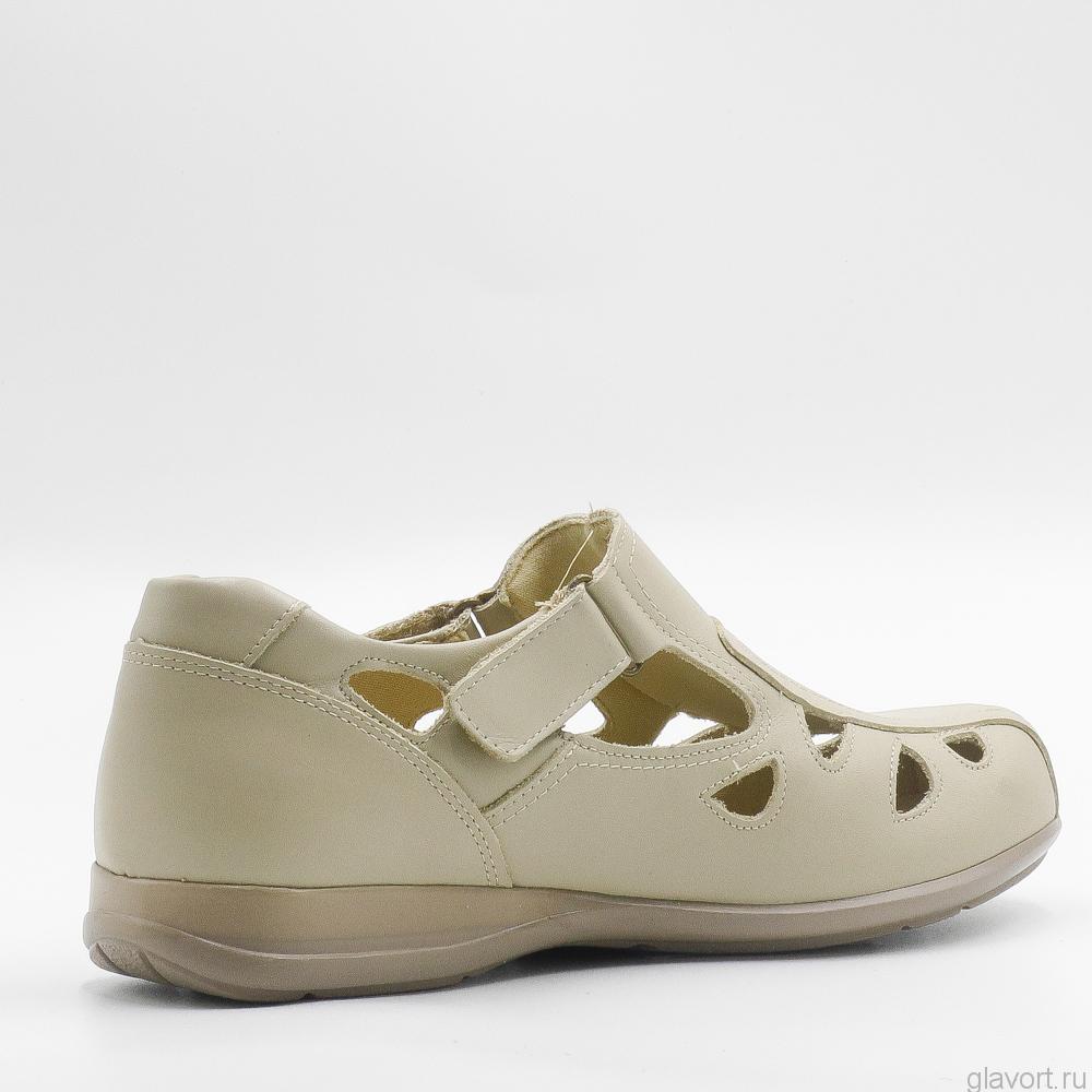 Туфли OrthoMS 5011 очень широкие и мягкие, бежевый 5011 фото