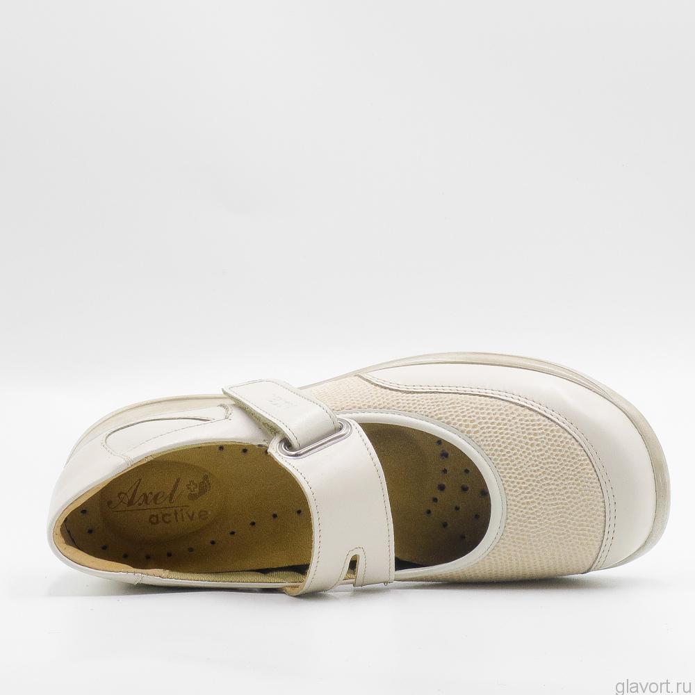 Туфли женские Axel 1576 широкие для косточек, бежевый 1576 фото