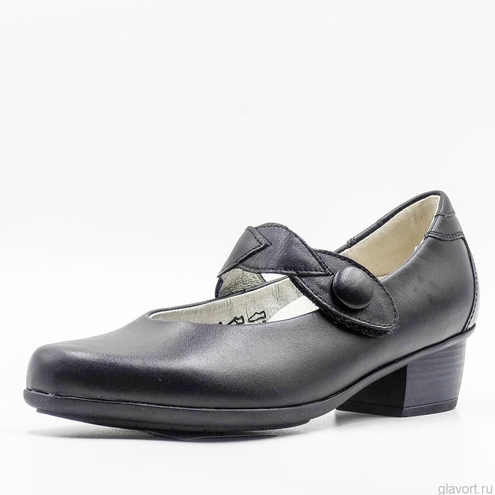 Туфли мери-джейн комфортные женские Waldlaufer, широкие 967301-186001 фото
