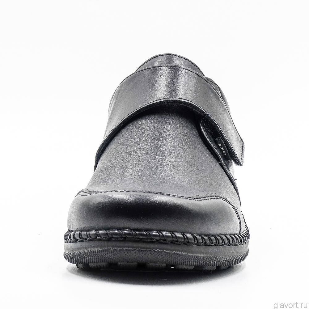 Полуботинки ортопедические женские Axel, черный 1705 фото