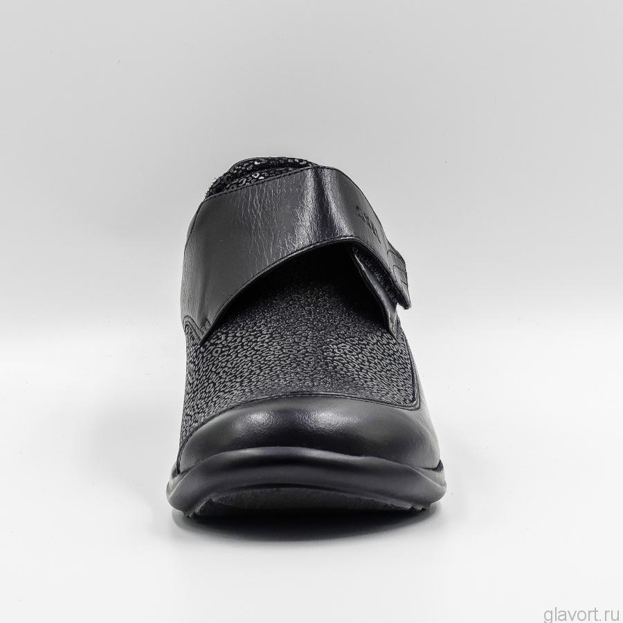 Полуботинки ортопедические женские Axel, черный 1397 фото
